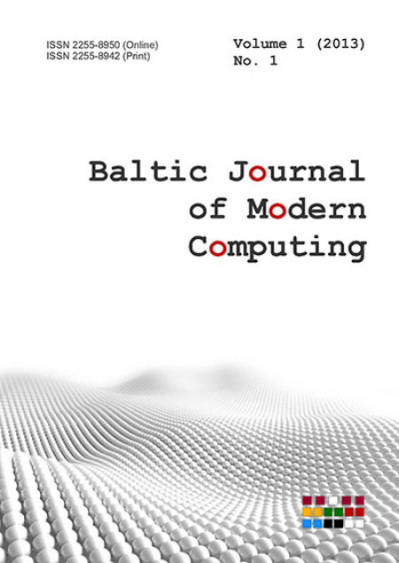 Cover of Baltic Journal of Modern Computing